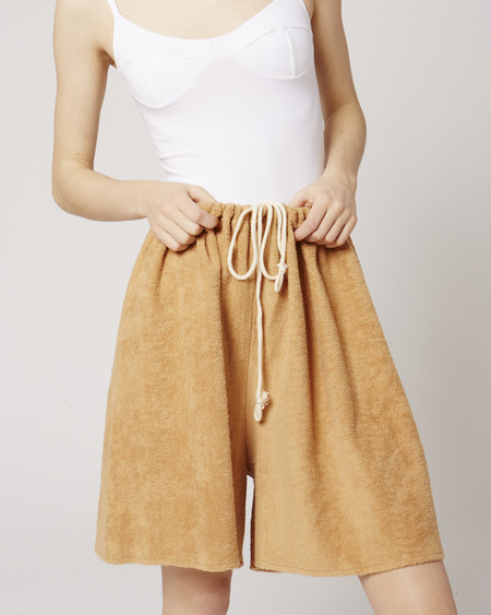 Baserange Cotton Terry Maxi Shorts