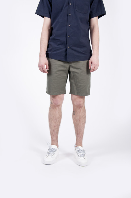 Norse Projects Aros Light Twill Shorts Dried Olive