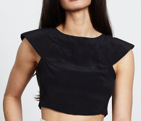 VINCETTA Silk Crop Top
