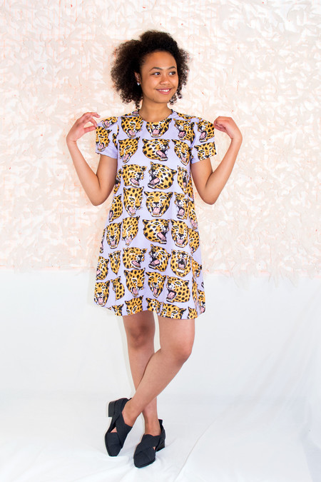 NOOWORKS Molly Dress in Cheetah Print