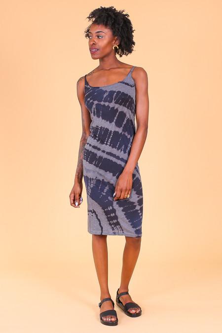 Raquel Allegra Layering Tank Dress in Midnight Tie Dye