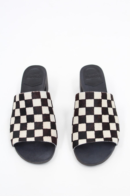 Huma Blanco Carly Checkered Slides