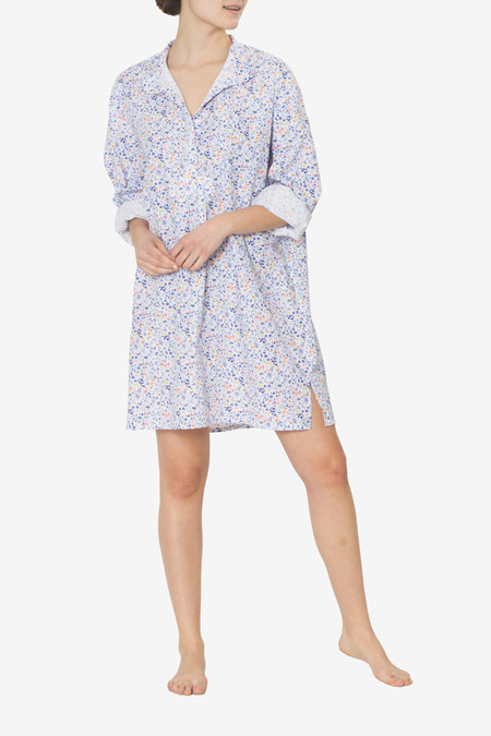 The Sleep Shirt Short Sleep Shirt Multicolour Floral