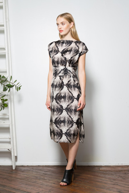 H. Fredriksson Wrap Coral Dress