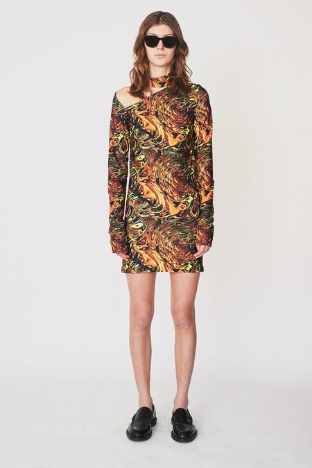 LRS Psyc-Print Cut-Out Mini Dress