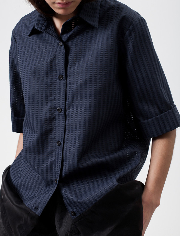 Christopher Raeburn Contrast Shirt Navy/Black