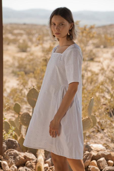 Lykke Wullf Square Neck Easy Linen Dress