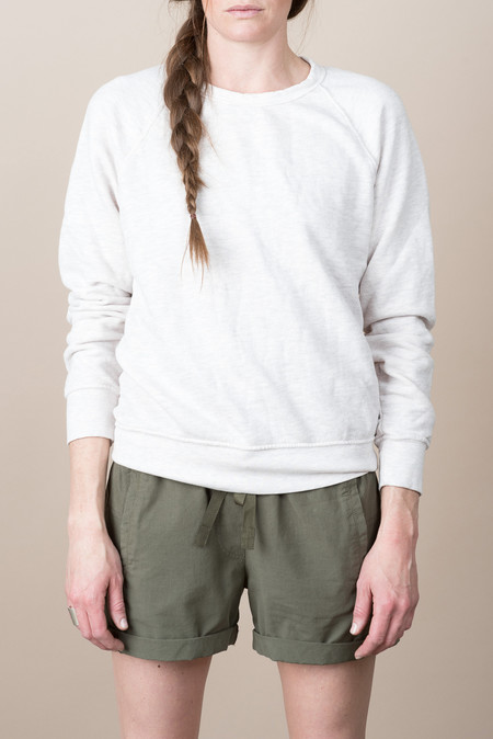 Save Khaki Overdyed French Terry Crew Sweatshirt In Oat Pink