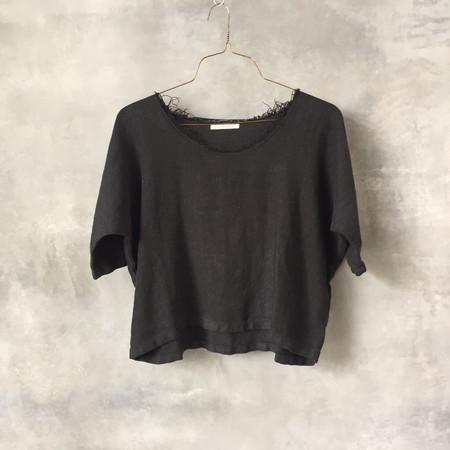 Black Crane Dolman Top in Black