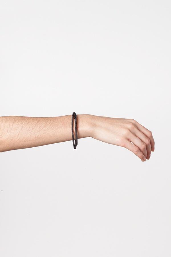 WWAKE Chain Wrapped Bracelet-steel