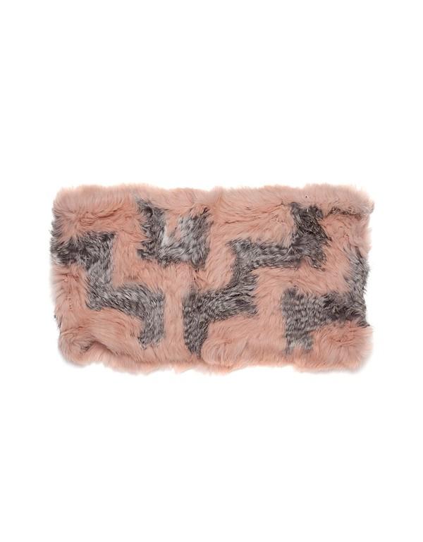 C/Fan Sofie Infinity Cowl, Dusty Pink/Grey