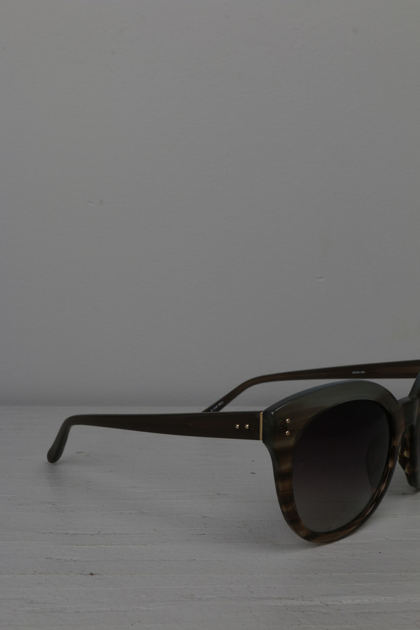 Linda Farrow Round Cat Eye Sunglasses
