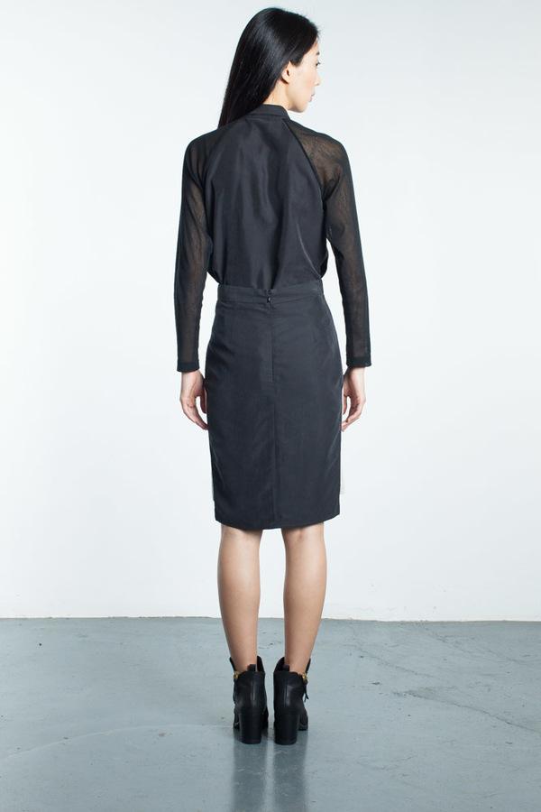 Mandarin & General Windowpane Skirt