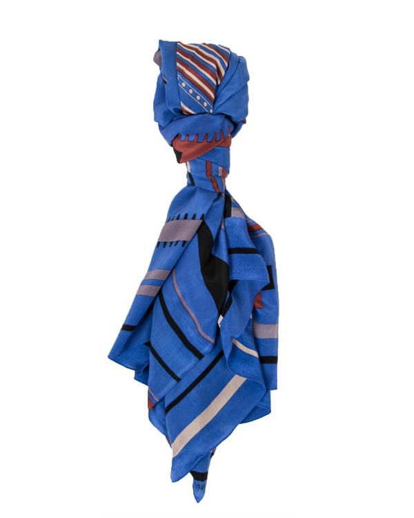 A Peace Treaty Tala 100% Silk Scarf in Blue