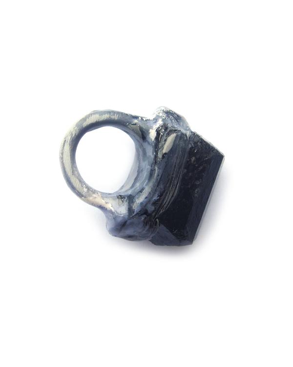 Adina Mills The Power Black Tourmeline Ring