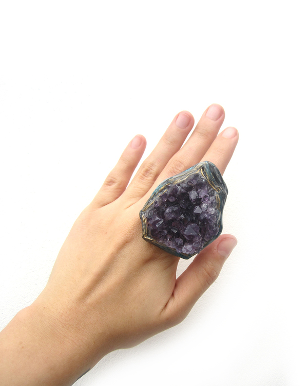 Adina Mills The Mindful Amethyst Ring