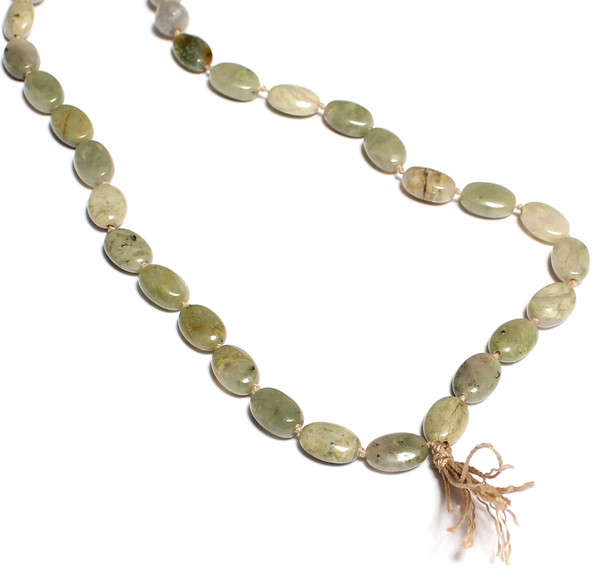 James and Jezebelle Green Agate and Labradorite Bead Necklace