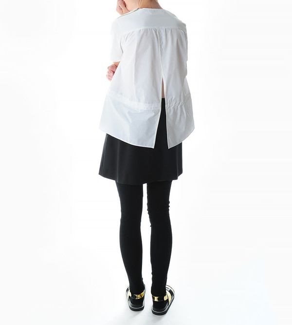 Sacai Luck Short-Sleeve Pullover with Drawstring