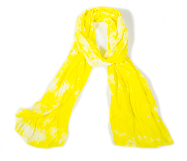 Shabd Lemon Silk Scarf