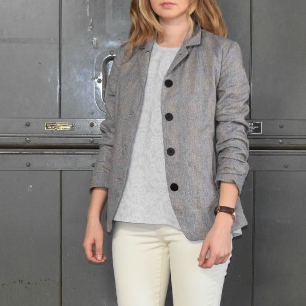 Feral Childe Penniman Blazer Tweed Squares