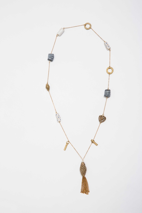 Osei-Duro Bead & Chain Necklace