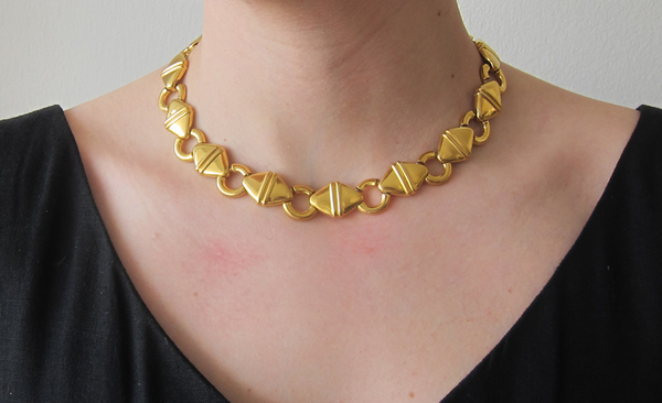 Vintage Collection Gold Chunky XVC Link Necklace