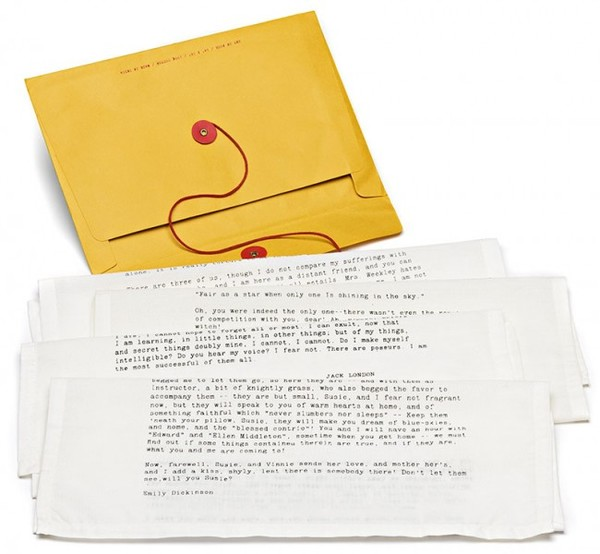 Lark & June Letter Napkin Set of 4