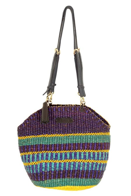 AAKS Handcrafted Manni Raffia Shoulder Bag