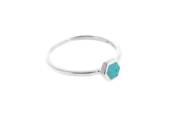 Shahla Karimi Mini Honey Ring with Turquoise