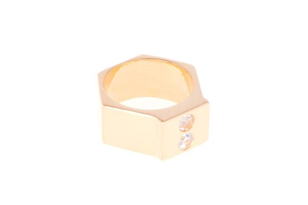 Shahla Karimi Single Honey Stacker with White Topaz - Wide