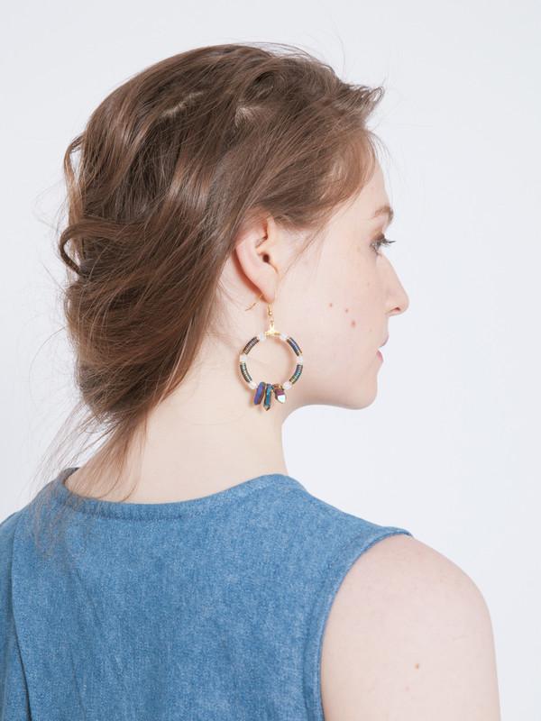 SCHO LUCKY RING EARRINGS