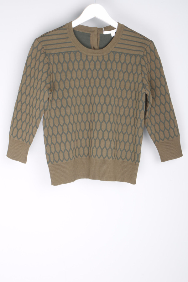 Jonathan Simkhai Quilted Button Crewneck