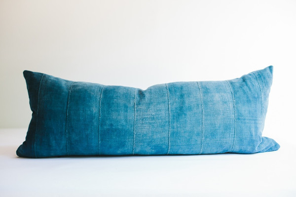 Non-Perishable Goods MALI INDIGO OBLONG PILLOW