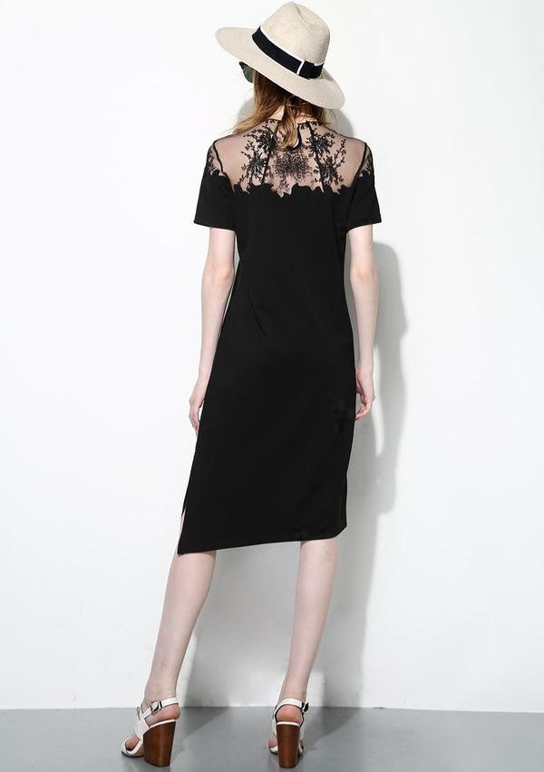 Few Moda Lace Shoulder Dress