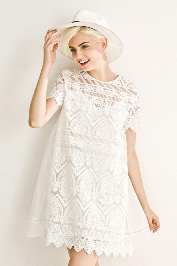 Few Moda White Lace A-Line Doll Dress