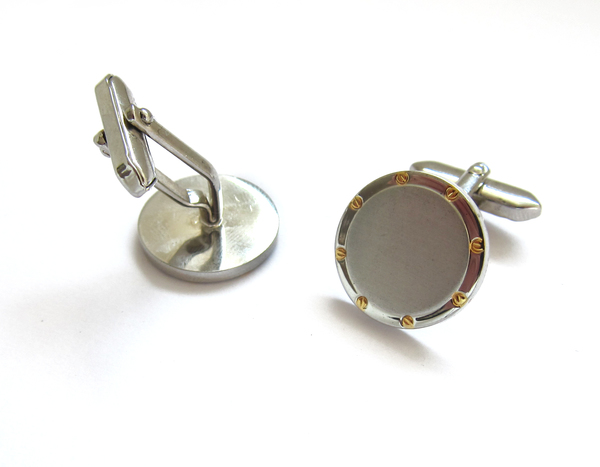 Vintage Collection Two-tone Industrial Cuff Links