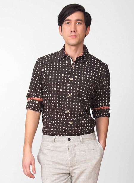 Men's Seek Collective Dean shirt | black/white portals print