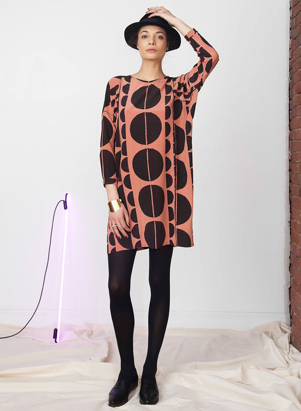 Seek Collective Sara dress | black eclipse print