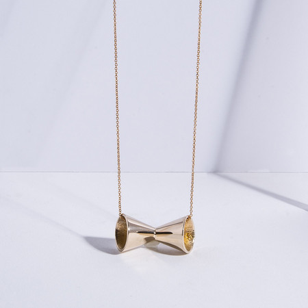 Metalepsis Projects Megaphone Necklace | high polish