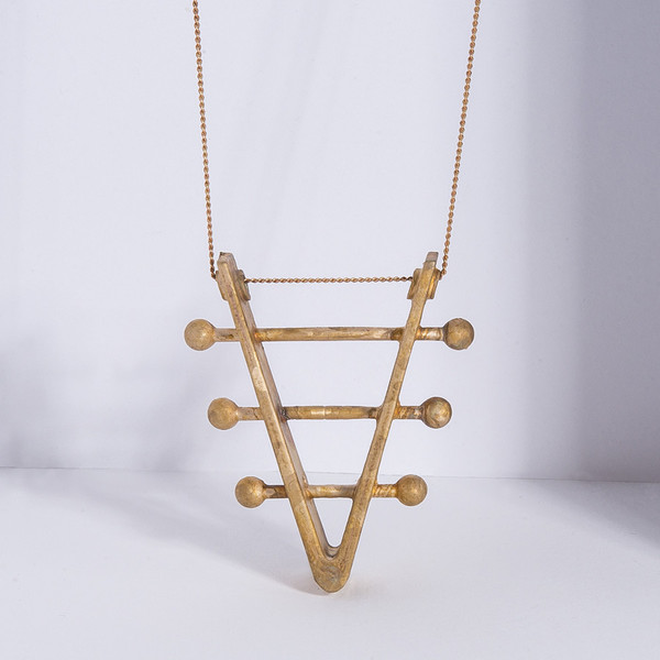 Soundboard Necklace - unfinished bronze