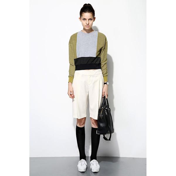 FEW MODA Color Block Sweater
