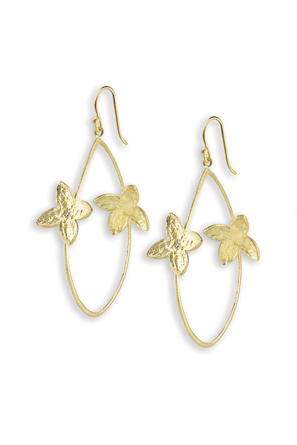 SíSí Design Gold Double Jasmine Hoops