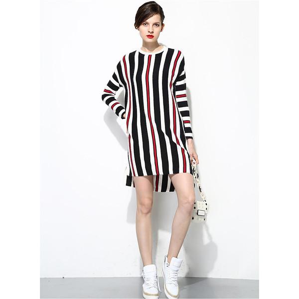 FEW MODA Striped Sweater Dress