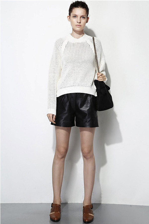 FEW MODA Oversized Crew Neck Sweater