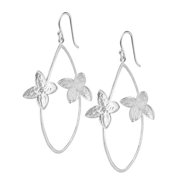 SíSí Design Silver Double Jasmine Hoops