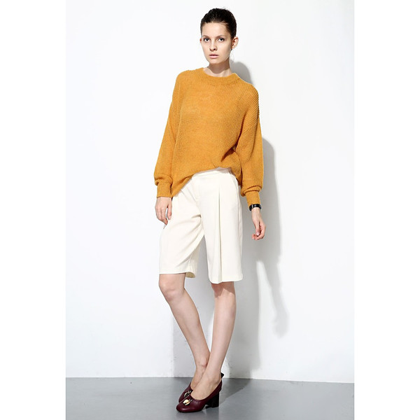 FEW MODA Slouchy Crew Neck Sweater
