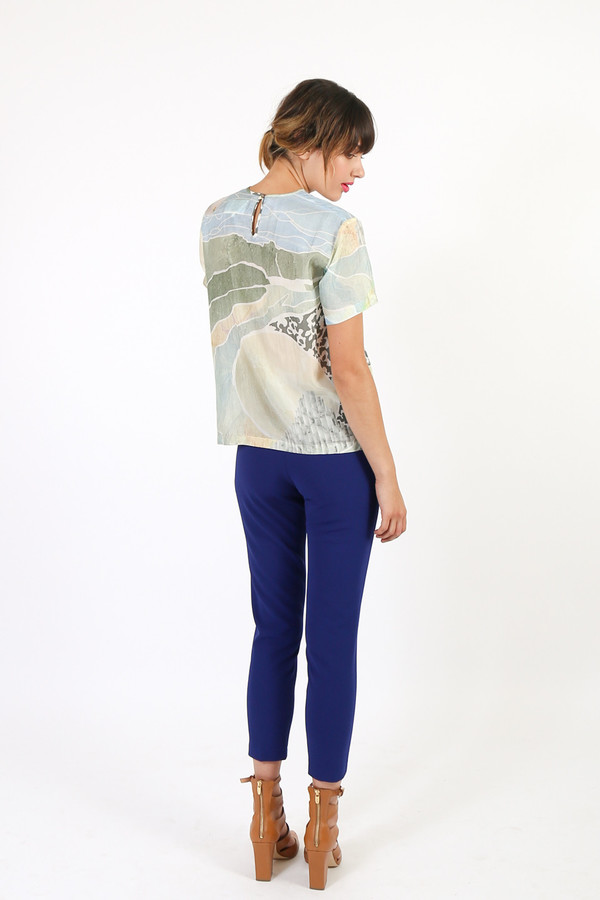 Nanushka Marte Printed Silk Top