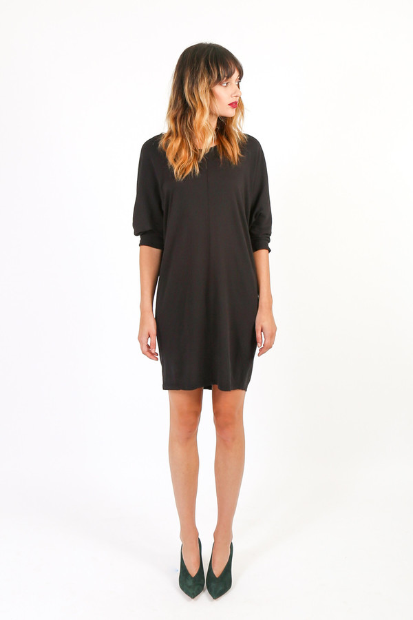 Black Crane Wide Dress