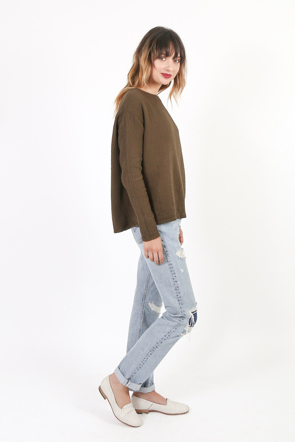 Black Crane Wide Sweatshirt