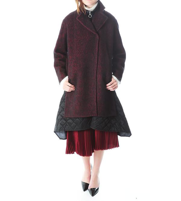 3.1 Phillip Lim Oversized Coat w Trompe L'Oeil Quilt